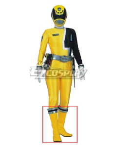 Power Rangers S.P.D. SPD Yellow Ranger Yellow Shoes Cosplay Boots