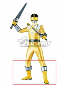 Power Rangers Time Force Time Force Yellow Yellow Shoes Cosplay Boots