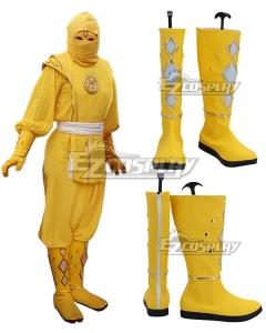 Power Rangers Yellow Ninjetti Ranger Yellow Shoes Cosplay Boots