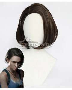 Resident Evil 3 Remake Jill Valentine Brown Cosplay Wig