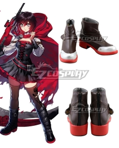 RWBY Volume 7 Ruby Rose Black Shoes Cosplay Shoes
