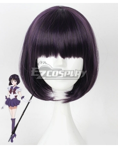 Sailor Moon Hotaru Tomoe Sailor Saturn Black Purple Cosplay Wig