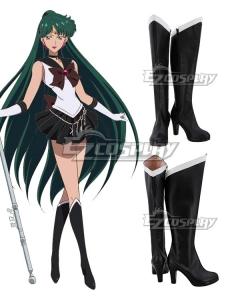 Sailor Moon Meiou Setsuna Black Shoes Cosplay Boots