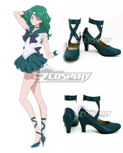 Sailor Moon Michiru Kaiou Deep Green Cosplay Shoes