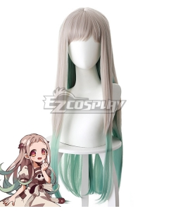 Toilet-bound Hanako-kun Yashiro Nene Sliver Grey Shade into Green Cosplay Wig - 497A