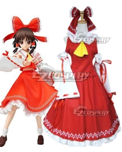 Touhou Project Hakurei Reimu Cosplay Costume