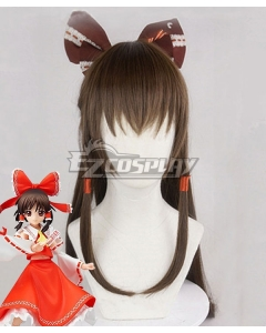 Touhou Project Psychic Hakurei Reimu Brown Cosplay Wig