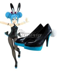 Vocaloid Hatsune Miku Black Bunny Girl Black Rabbit Black Cosplay Shoes