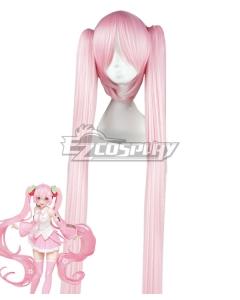 Vocaloid Hatsune Miku Sakura Miku Pink Cosplay Wig