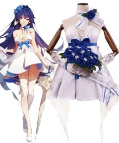 Honkai Impact 3 Raiden Mai Maye Wedding Dress Cosplay Costume