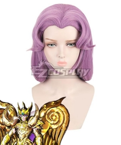 Saint Seiya Aries Mu Purple Cosplay Wig