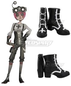 Identity V Mechanic Tracy Reznik Gothic Black Cosplay Shoes