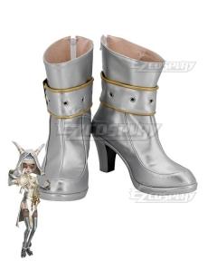 Identity V Priestess Fiona Gilman Golden Future Silver Cosplay Shoes
