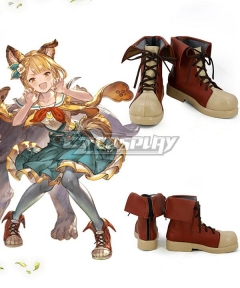 Granblue Fantasy Vajra Brown Cosplay Shoes