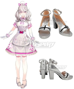 Virtual YouTuber Sukoya Kana Silver Cosplay Shoes