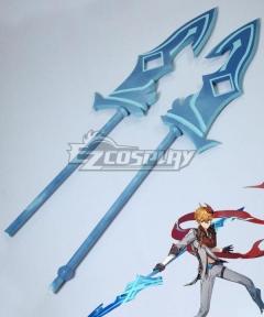Genshin Impact Childe Tartaglia Foul Legacy Raging Tide Polearms Cosplay Weapon Prop