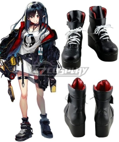 Arknights Ada Closure Church Black Shoes Cosplay Boots