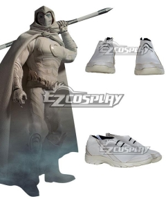 Marvel Moon Knight Marc Spector Silver Cosplay Shoes