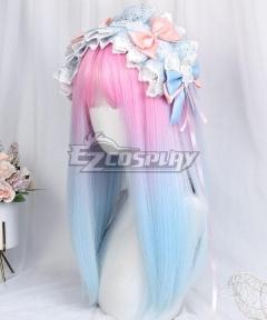 Japan Harajuku Lolita Series Macaron Pink Blue Cosplay Wig
