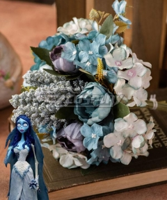 Corpse Bride Corpse Emily Bride Holding Flowers Bouquet Cosplay Accessory Prop