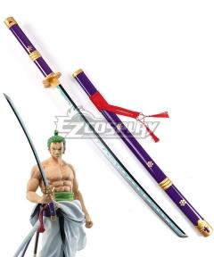 One Piece Roronoa Zoro Purple Enma Sword Cosplay Weapon Prop