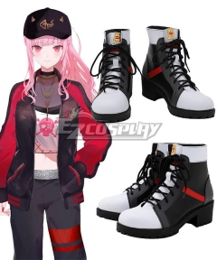 Hololive Virtual YouTuber Mori Calliope MC Black White Cosplay Shoes