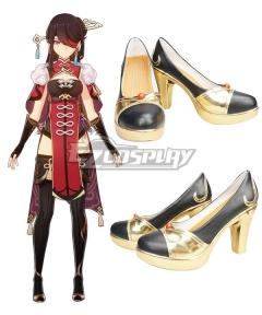 Genshin Impact Concert Online Beidou Black Golden Cosplay Shoes