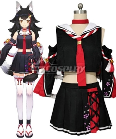 Vtuber Hololive Virtual YouTuber Ookami Mio Cosplay Costume B Edition