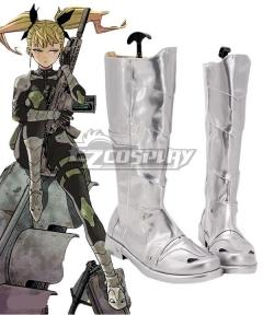 Kaiju No. 8 Kikoru Shinomiya Silver Shoes Cosplay Boots