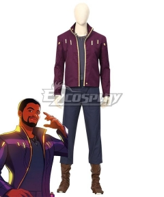 Marvel What IF Star-Lord T'Challa Halloween Cosplay Costume