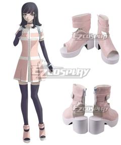 Akudama Drive Ordinary Person Pink Cosplay Shoes