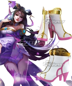 Arena Of Valor Honor of Kings Diao Chan Peerless Dancer White Cosplay Shoes