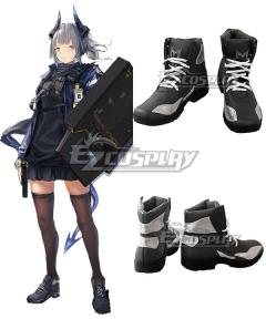 Arknights Liskarm Black Cosplay Shoes