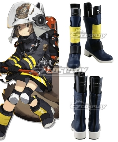 Arknights Shaw Black Shoes Cosplay Boots