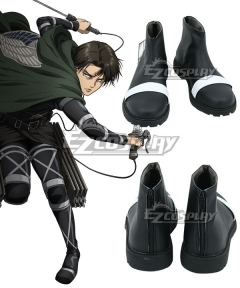 Attack On Titan Shingeki No Kyojin Final Season Mikasa Ackerman Black Cosplay Shoes