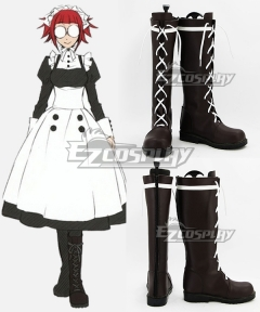 Black Butler Mey-Rin Maylene Meirin Brown Cosplay Shoes