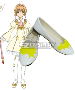 Cardcaptor Sakura: Clear Card Sakura Kinomoto EP7 Star Card Flight White Cosplay Shoes
