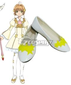 Cardcaptor Sakura: Clear Card Sakura Kinomoto EP7 Star Card Flight White Cosplay Shoes