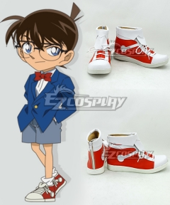 Case Closed Detective Conan Conan Edogawa Shinichi Kudo Jimmy Kudo Red Cosplay Shoes