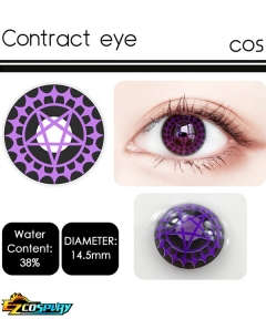 OVOLOOK Ciel Phantomhive Purple Black Eye of Contract Halloween Cosplay Contact Lense