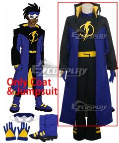 DC Comics Static Shock Virgil Ovid Hawkins Cosplay Costume - Only coat, bodysuit & Jumpsuit