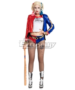 DC Suicide Squad Harley Quinn Cosplay Costume New Edition