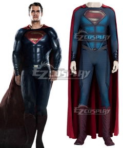 DC Superman : Man of Steel Clark Kent Superman Cosplay Costume