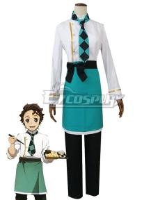 Demon Slayer: Kimetsu No Yaiba Kamado Tanjirou Coffee Cosplay Costume