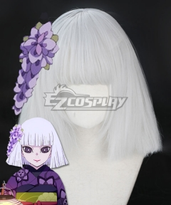 Demon Slayer: Kimetsu No Yaiba Kanata Ubuyashiki Silver Cosplay Wig