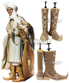Disney 2019 Movie Aladdin Prince Ali Brown Shoes Cosplay Boots