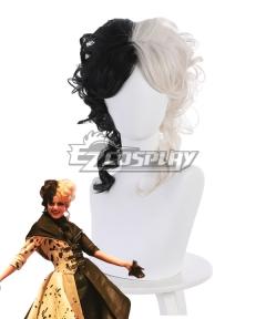Disney Movie Cruella de Vil Black Silver Cosplay Wig D Edition