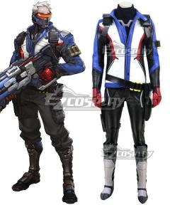 Overwatch OW Soldier 76 John Jack Morrison Cosplay Costume