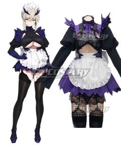 Fate Grand Order Lancer Alter Artoria Pendragon Maid Black Cosplay Costume