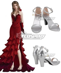 Final Fantasy VII Remake FF7 Aerith Gainsborough White Cosplay Shoes